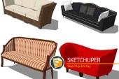 مجموعه دوم ابجکت های مبل و صندلی برای اسکچاپ