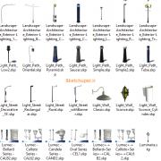 مدل های گیاهان و مبلمان فضای خارجی اسکچاپ (11)