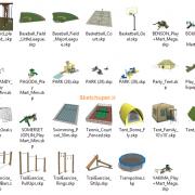 مدل های گیاهان و مبلمان فضای خارجی اسکچاپ (16)