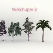 مدل های گیاهان و مبلمان فضای خارجی اسکچاپ (22)
