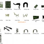مدل های گیاهان و مبلمان فضای خارجی اسکچاپ (26)