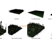 مدل های گیاهان و مبلمان فضای خارجی اسکچاپ (33)