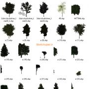 مدل های گیاهان و مبلمان فضای خارجی اسکچاپ (34)