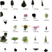 مدل های گیاهان و مبلمان فضای خارجی اسکچاپ (35)