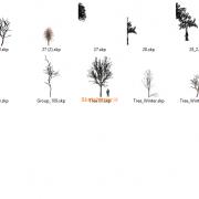 مدل های گیاهان و مبلمان فضای خارجی اسکچاپ (4)